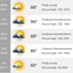 外の気温を計算するには?