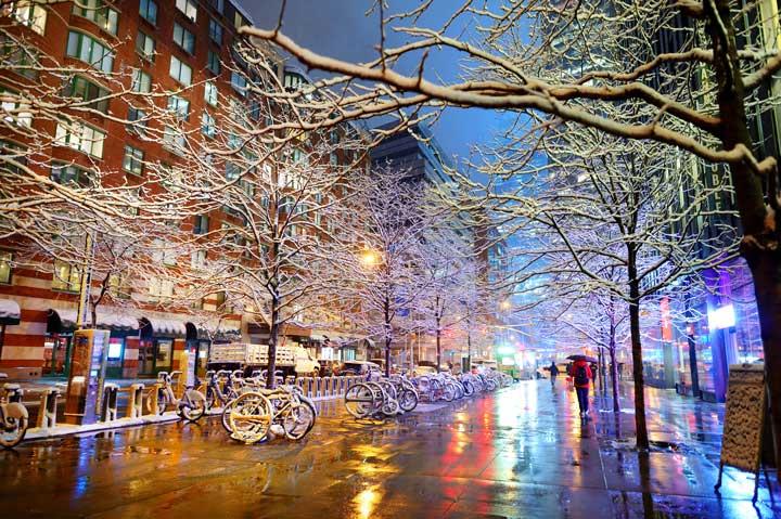厳冬のニューヨーク