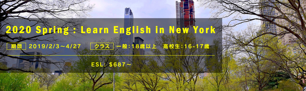 2020 Spring : Learn English in New York